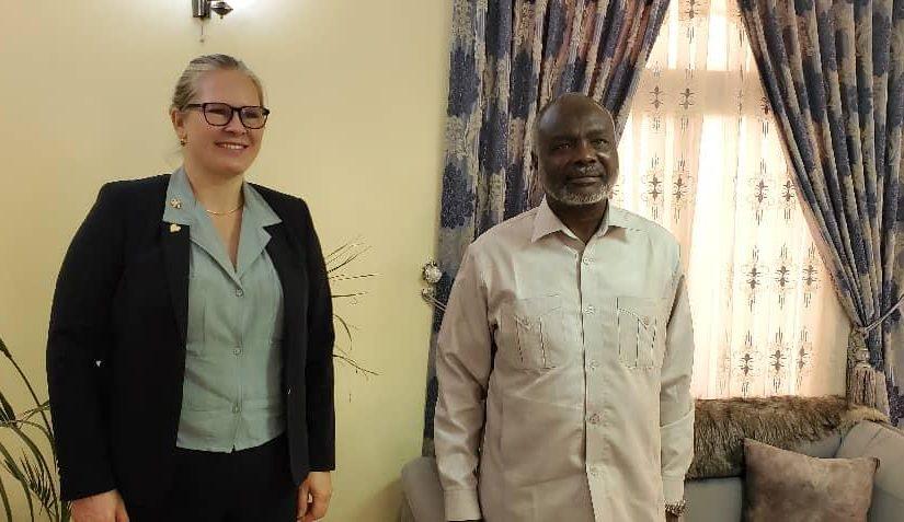 جبريل يلتقي السفيرة النرويجية لدى السودان