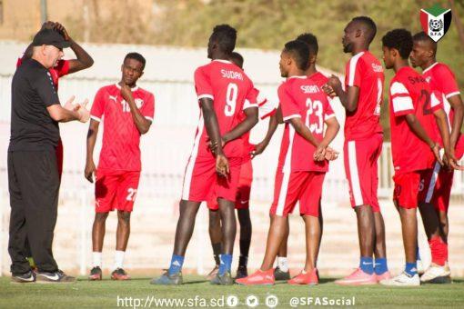 المنتخب السوداني تحت السن 23 يتدرب في ملعب الوطني صباحا