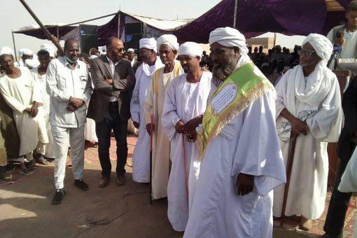 تكريم ناظر عموم الرواشدة في السودان بالجزيرة