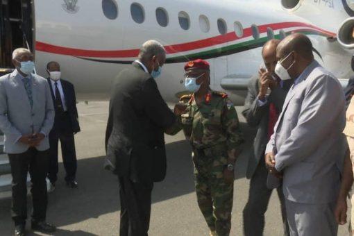 الفريق الركن ياسر العطا يصل جمهورية جيبوتي