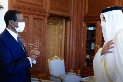 أمير دولة قطر يستقبل النائب الأول لرئيس مجلس السيادة