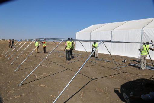 (600) خيمة جديدة من قطر الخيريَّة للاجئين الإثيوبيين