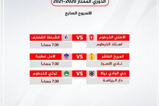 3 مباريات في استهلالية الاسبوع السابع للممتاز