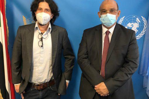 مندوب السودان بجنيف يلتقي مدير منظمة أطباء بلا حدود
