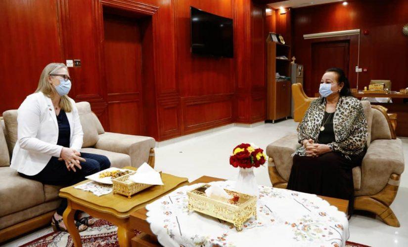 رجاء نيكولا تستقبل سفيرة مملكة النرويج لدى السودان