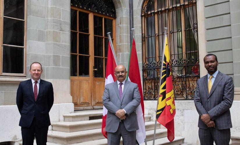 سفير السودان بجنيف يلتقي عضو مجلس جمهورية جنيف