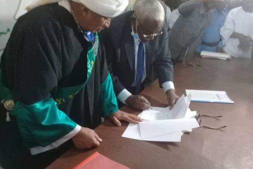 توقيع وثيقة صلح بين قبيلتي الغلاتين والهوسا بقرية حويوا
