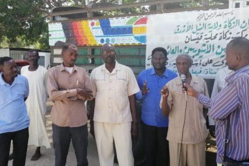 زكاة محلية قيسان تسير قافلة لـ 1000عائد ولاجئ أثيوبي