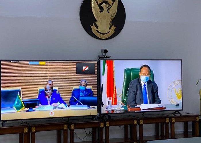 د.حمدوك يخاطب مؤتمر رؤساء دول وحكومات الإتحاد الافريقي