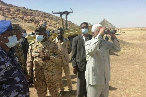 والي كسلا المكلف يتفقد النقاط الحدودية مع دولة اريتريا