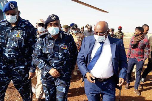 وزير الداخلية يصل الفولة للوقوف علي الأوضاع الأمنية ميدانيا