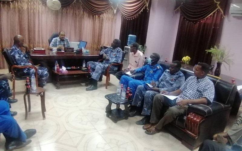 مدير التأمين الصحي بنهر النيل يلتقي قيادات شرطة الولاية