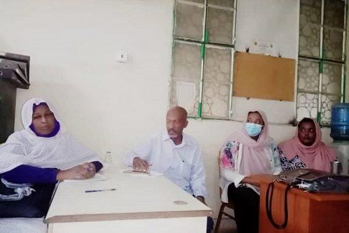إجتماع بين مفوضية العون الإنساني ومنظمات المجتمع المدني بالجزيرة