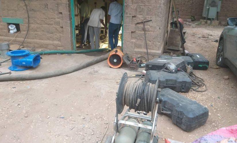 تواصل مجهودات هيئة الصرف الصحي لاصلاح عطل المحطة الرئيسية بالخرطوم