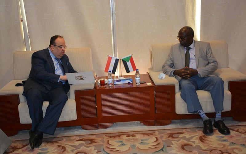 وزيرمجلس الوزراء يبحث سبل تعزيز العلاقات الثنائية بين السودان ومصر