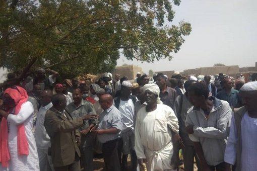 حكومة النيل الابيض تتفقد المناطق التي تأثرت بفيضان النيل