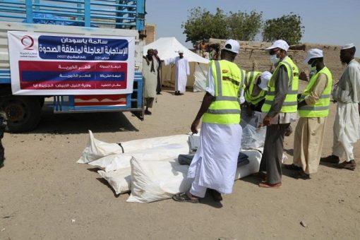 إغاثة من جمعية قطر الخيرية لمتضرري الفيضانات بالنيل الأبيض