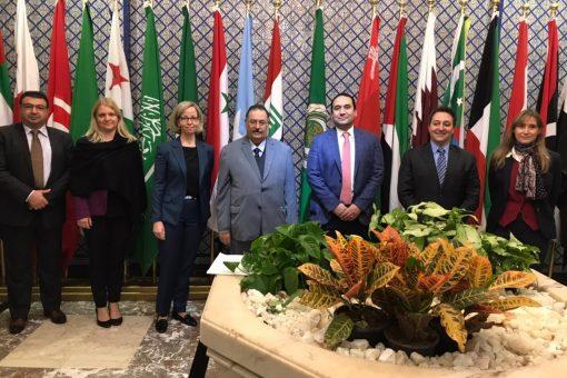 الجامعة العربية تستقبل وفد منظمة مبادرة إدارة الأزمات الفنلندية