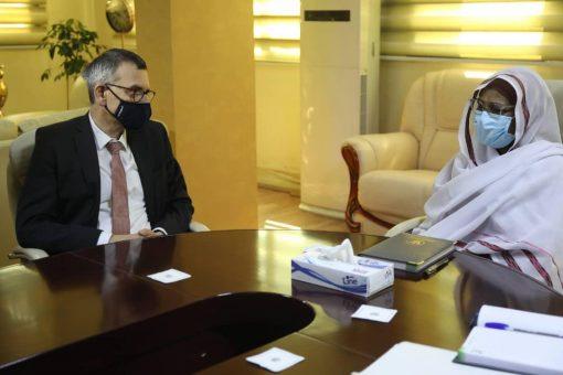 دكتورة مريم الصادق تلتقي رئيس بعثة اليونيتامس