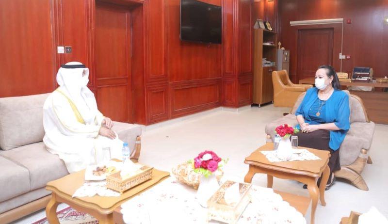 نيكولا تشيد بمستوى التعاون بين السودان والإمارات