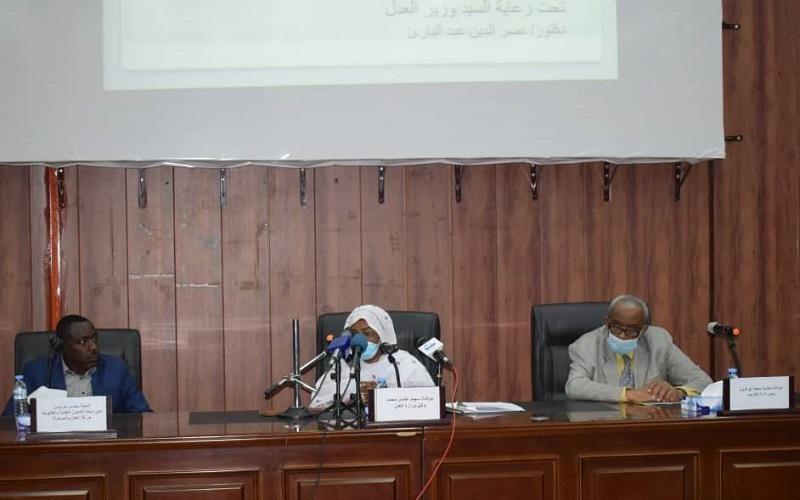وكيل وزارة العدل ترحب بمنسوبي حركة العدل والمساواة السودانية