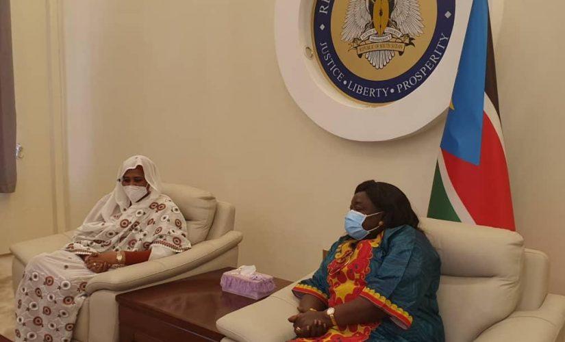 مريم الصادق المهدي تلتقى نظيرتها بجنوب السودان