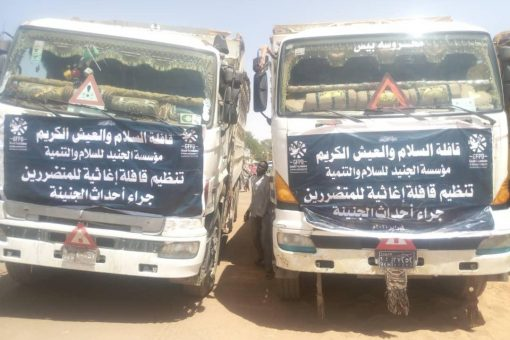والي غرب دارفور المكلف يستقبل قافلة السلام والعيش الكريم