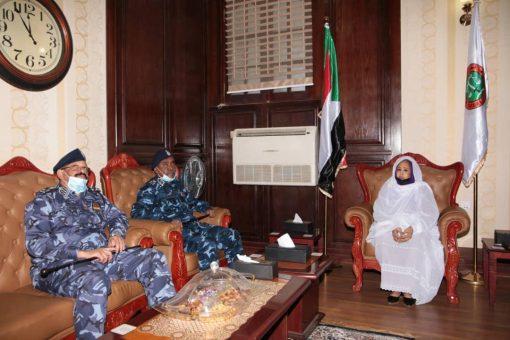 رئيس القضاء تلتقي وزير الداخلية ومدير عام قوات الشرطة