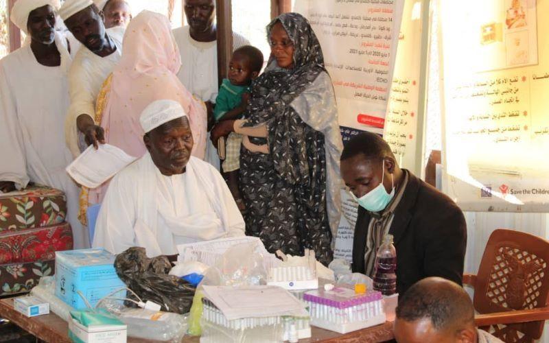 مخيم علاجي بمحلية كليمندو بشمال دارفور
