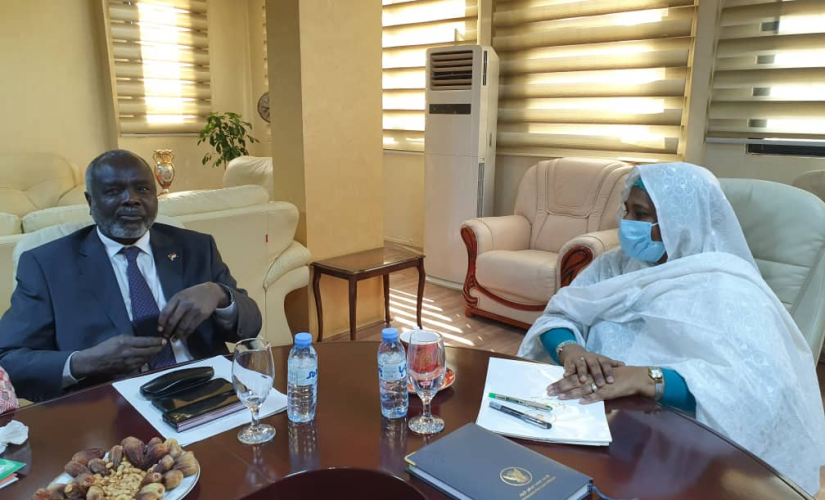 مريم الصادق تلتقي أتوك كاري وكيل الأمين العام للأمم المتحدة
