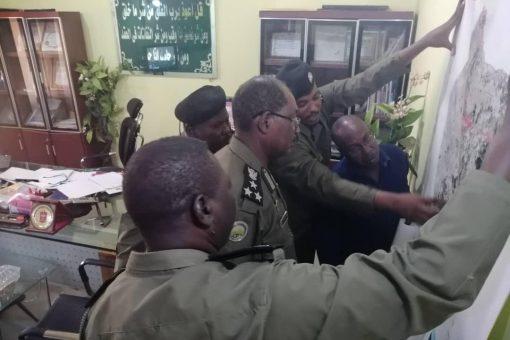 مدير شرطة محمية الدندر يستقبل وفد الإتحاد الإفريقي