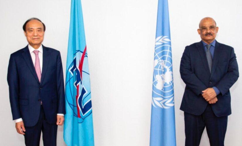 السفير ابو طالب يلتقي المندوب الدائم للسودان بجنيف