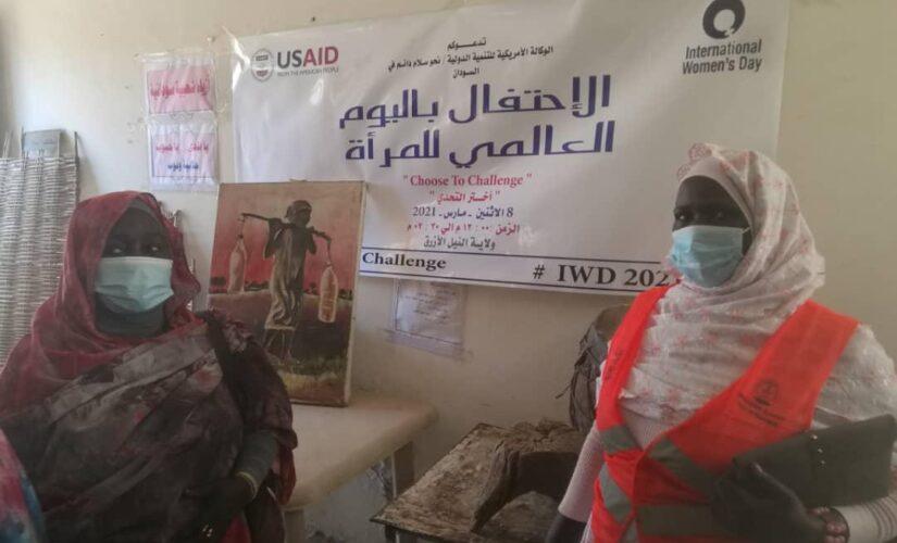 شبكة نساء النيل الازرق تحتفل باليوم العالمي للمرأة