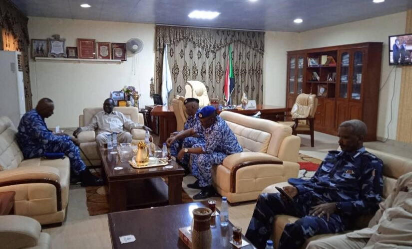 والي النيل الازرق يلتقي المدير الجديد لشرطة الولاية
