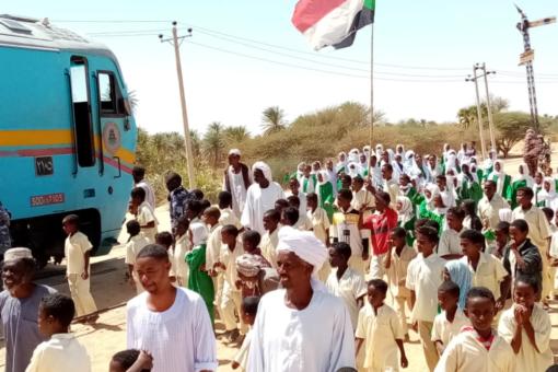 أبوحمد تستقبل قطار البناء والعدالة