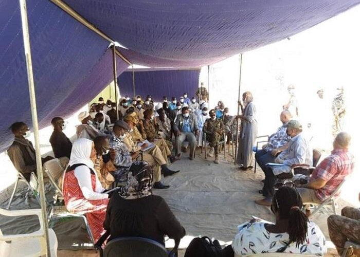 ترتيبات لاخلاء موقع بعثة اليوناميد في سرتوني بشمال دارفور.