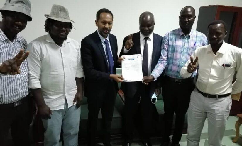 وفد لجان مقاومة النيل الأزرق يدفع بحزمة قضاياومطالب للجهات العليا