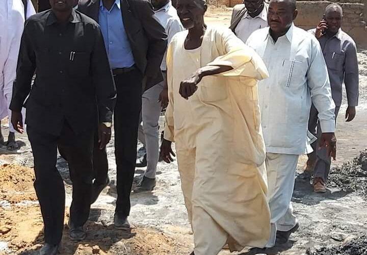 حكومة شمال دارفور تتفقد متضرري حريق منطقة مجدوب (أ) بالفاشر
