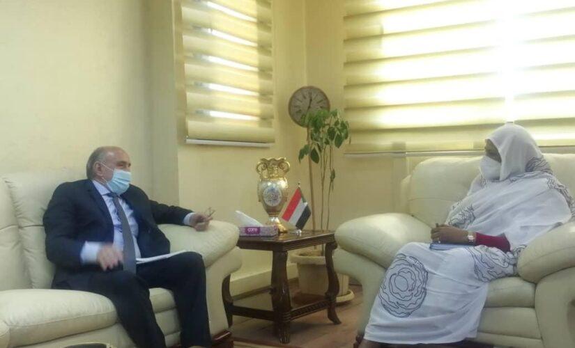 مريم وبلعيش يناقشان دور الاتحاد الأفريقي في قضايا السودان