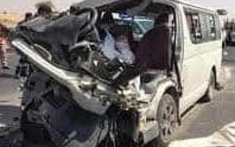 وفاة واصابة 13شخص في حادث مروري بطريق كوستي الابيض