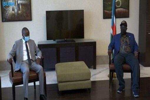 الهادي يُطلع نائب رئيس جنوب السودان على سيرتنفيذ اتفاقيةسلام جوبا