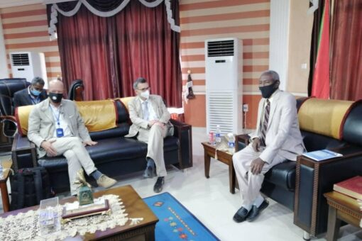شنقراي يبحث أوجه التعاون بين حكومةالولاية وبعثة الأمم المتحدة (يونتامس)