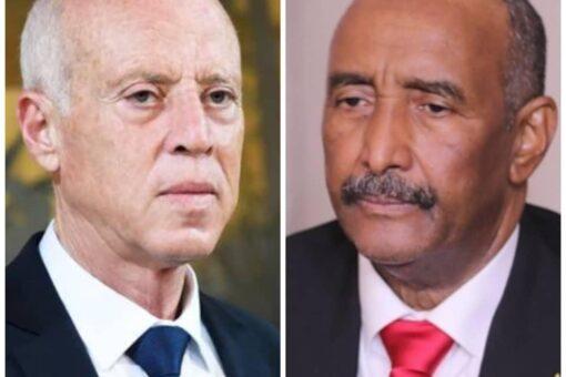 البرهان يهنئ الرئيس التونسي بالذكرى الخامسة والستين لإستقلال بلاده