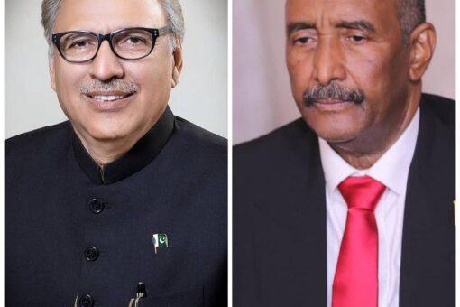 رئيس مجلس السيادة يهنئ رئيس جمهورية باكستان الإسلامية بالعيدالوطني لبلاده
