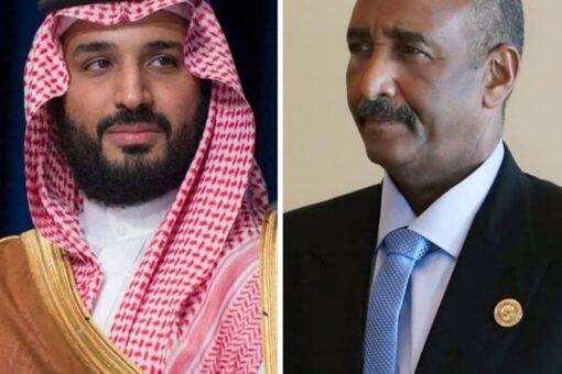 البرهان يتلقى اتصالاً هاتفياً من ولي العهد السعودي