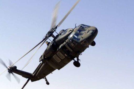 تحطم طائرة هليكوبتر عسكرية ونجاة جميع طاقمها