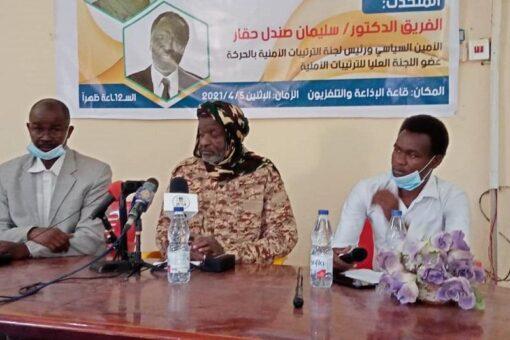 صندل بالفاشر: الحكم الفيدرالي هدية اتفاقية جوبا للشعب السوداني