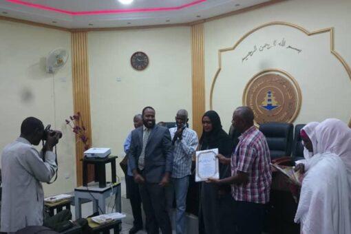 ختام فعاليات دورة الجدارات بهيئة سكك حديد السودان