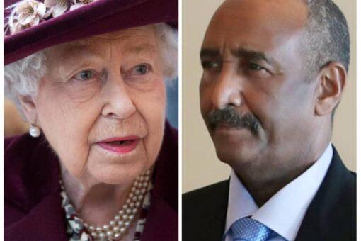 البرهان يعزي الملكة إليزابيث في وفاة الأمير فيليب