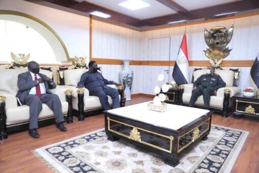 رئيس مجلس السيادة يلتقي بنائب رئيس جمهورية جنوب السودان